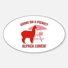 Going On A Picnic? Sticker (Oval)