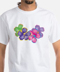 Two Sided Tropical Flowers Shirt