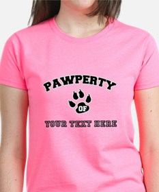 Personalized Cat Pawperty Tee