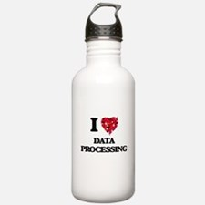 I love Data Processing Water Bottle