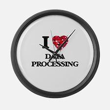 I love Data Processing Large Wall Clock