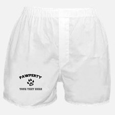 Personalized Cat Pawperty Boxer Shorts