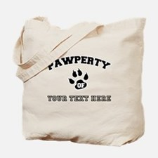 Personalized Cat Pawperty Tote Bag