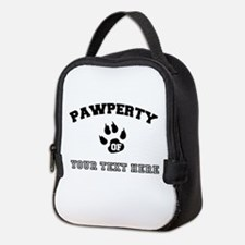 Personalized Cat Pawperty Neoprene Lunch Bag