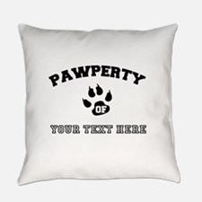 Personalized Cat Pawperty Everyday Pillow
