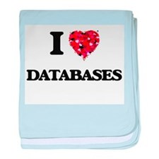 I love Databases baby blanket