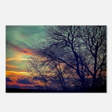 Cute Clouds sunsets sun moon Postcards (Package of 8)