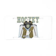 Hockey Goalie Aluminum License Plate