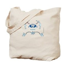 Bunny Yoga 'Breathe' Tote Bag