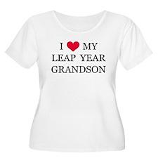 Leap Year Grandson Plus Size T-Shirt