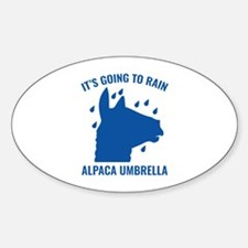 Alpaca Umbrella Decal