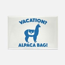 Vacation? Alpaca Bag! Rectangle Magnet