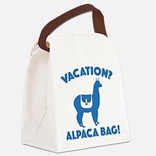 Vacation? Alpaca Bag! Canvas Lunch Bag