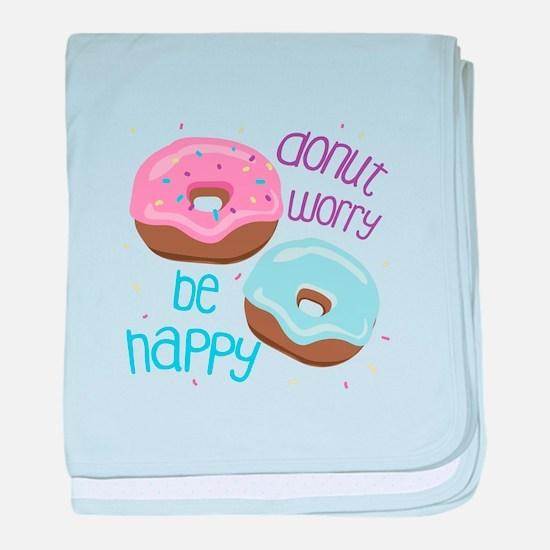 Donut Worry baby blanket