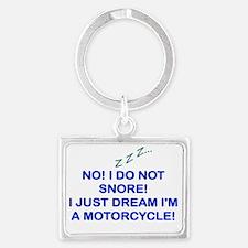 Cute Motorcycles Landscape Keychain