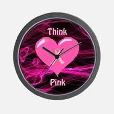 Breast Cancer Awareness Ribbon Wall Clock