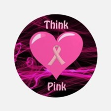 Breast Cancer Awareness Ribbon Button