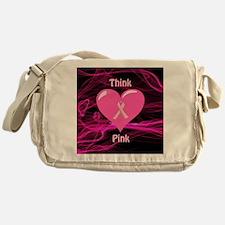 Breast Cancer Awareness Ribbon Messenger Bag
