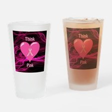 Breast Cancer Awareness Ribbon Drinking Glass