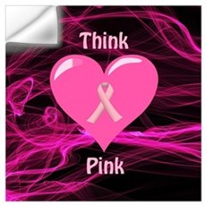 Breast Cancer Awareness Ribbon Wall Decal