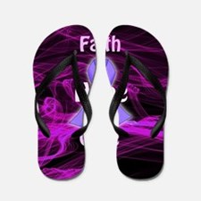 Purple Ribbon Awareness Flip Flops