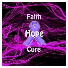 Purple Ribbon Awareness Poster