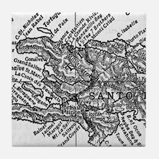 Vintage Map of Haiti (1911) Tile Coaster