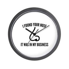 I Found Your Nose Wall Clock