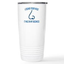 I Found Your Nose Ceramic Travel Mug