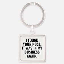 I Found Your Nose Square Keychain