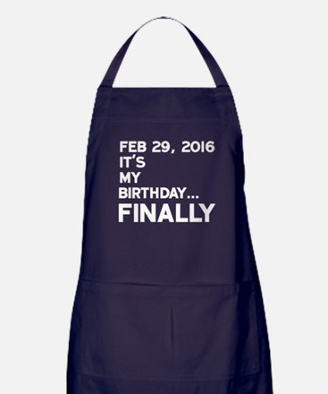 Feb 29, 2016 FINALLY Apron (dark)