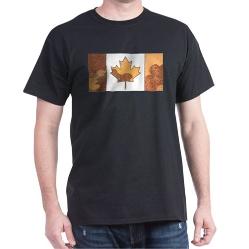 Canadian Flag Fall Red & Orange Autumn T-Shirt