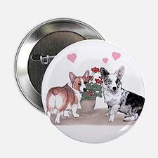Corgi Valentine Button