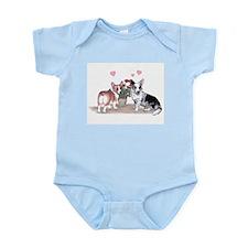 Corgi Valentine  Infant Creeper