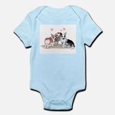 Corgi Valentine  Infant Creeper