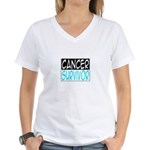 'Cancer Survivor' Women's V-Neck T-Shirt