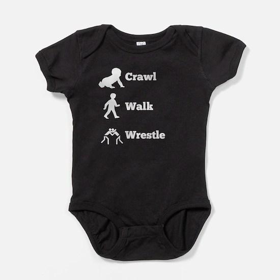 Crawl Walk Wrestle Baby Bodysuit