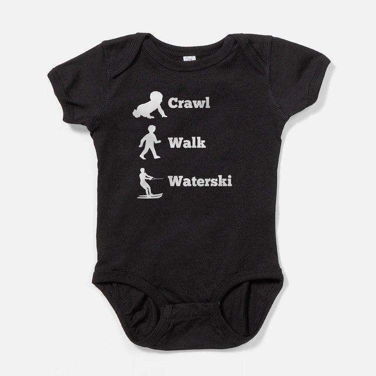 Crawl Walk Waterski Baby Bodysuit