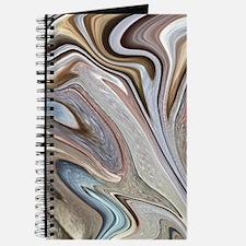 brown marble swirls Journal