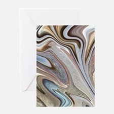 brown marble swirls Greeting Cards
