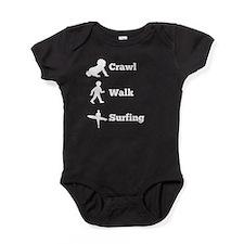 Crawl Walk Surfing Baby Bodysuit