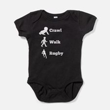 Crawl Walk Rugby Baby Bodysuit