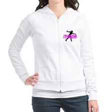 Pink Discus Fitted Hoodie