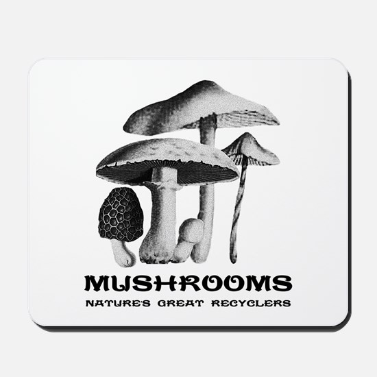 Mushrooms Recycle Mousepad