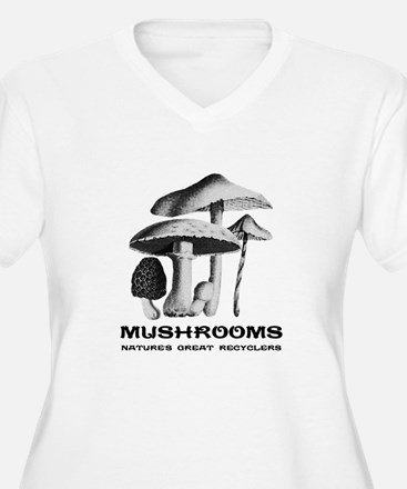 Mushrooms Recycle Plus Size T-Shirt