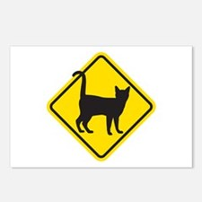 Cat Crossing Postcards (Package of 8)