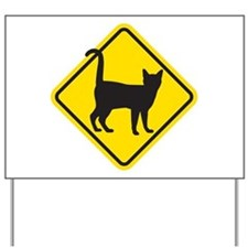 Cat Crossing Yard Sign
