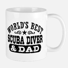 World's Best Scuba Diver and Dad Mug