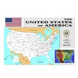 United states map Postcards