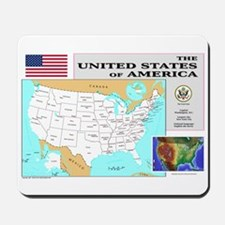 USA Map Mousepad